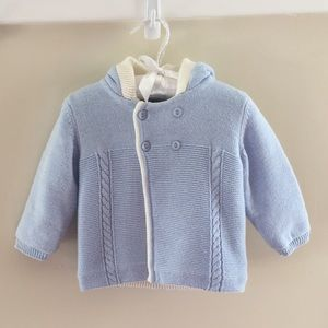  Mayoral Knit Blue Hooded Sweater Jacket NWT